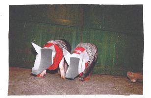 atomic piggies, collage, carrie roseland